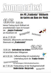 Sommerfest 2015 Plakat